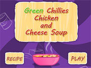 Play Green Chilies Chicken and Cheese Soup