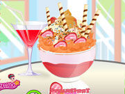 Play Strawberry ice cream decoration
