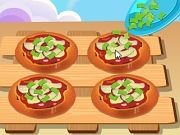 Play Aubergine mini foccacia cook