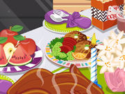 Play Decorate Thanksgiving dinner table