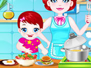 Play Baby Lulu Cooking with Mom