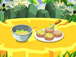 Play Cooking Fish Fresh Salad