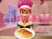 Play Anna Cooking Spaghetti