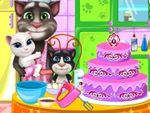 Play Tom Family Cooking Cake
