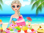 Play Pregnant Elsa Ice Cream Decor
