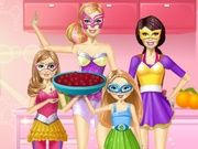 Play Barbie Family Cooking Berry Pie
