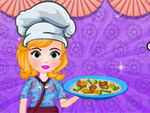 Play Sofia Cooking Chinese Fried Noodles