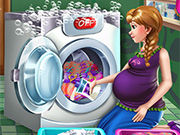 Play Anna Pregnant Laundry Day