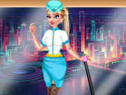 Play Elsa Stewardess Fashion