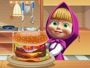 Masha Cooking Big Burger