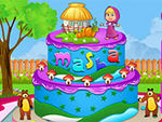 Play Masha And The Bear Cake