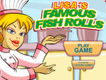 Play Lisas Famous Fish Rolls