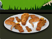 Play Cooking Fried Chicken Wings