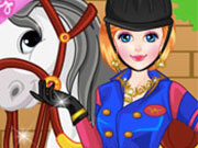 Play Girl and Horse Dressup