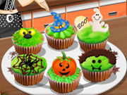 Play Sara's Cooking Class Halloween Cupcakes