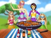 Play Barbie Family Cooking Barbecued Wings